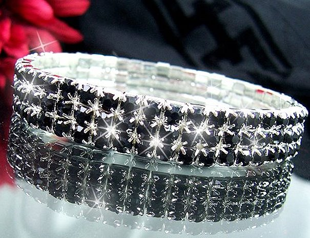 Armband Strass Schwarz