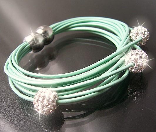 Armband-Shamballa-echt-Leder-Magnetschliesse-Strass-Lederarmband-Armbaender-VA2