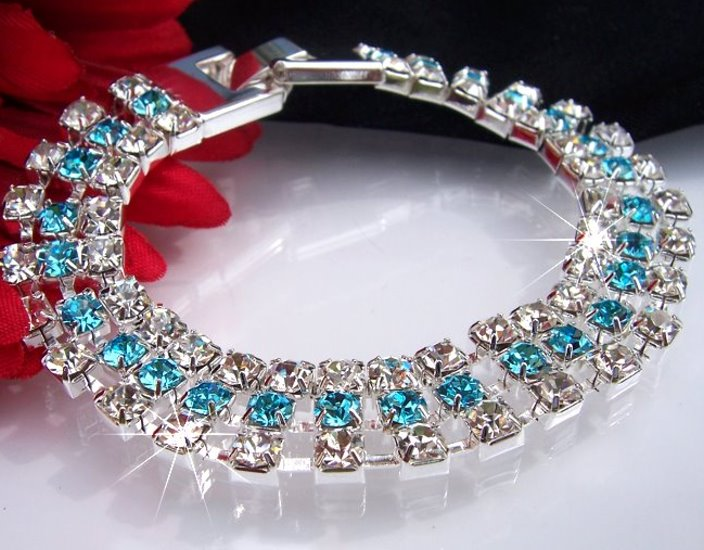 A1368#  STRASS-ARMBAND  SILBER PL STRASS SCHMUCK NEU