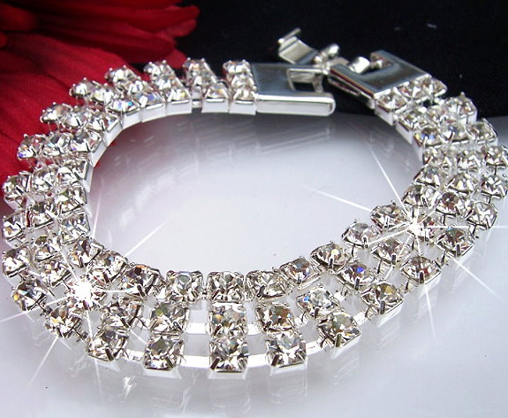 A1364#  STRASS-ARMBAND Armband  SILBER-PL NEU SCHMUCK