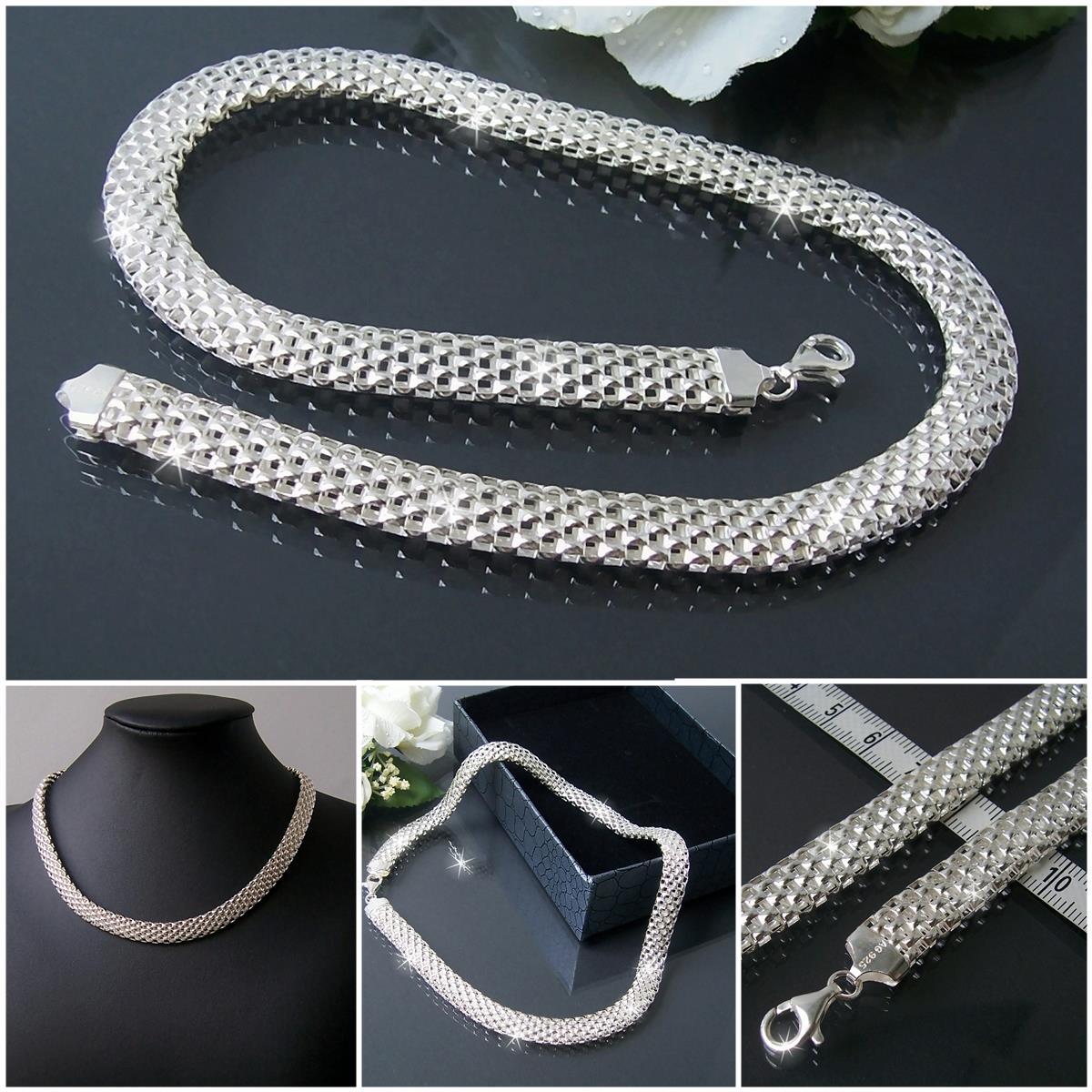 Niklarson 925 Silberschmuck Collier Kette Armband Sterling Silber Schmuck VE10*