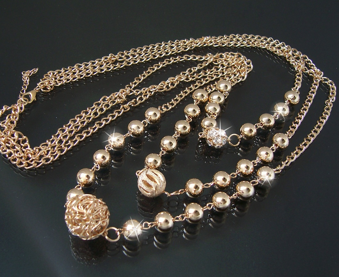 Modeschmuck kette gold  Lange Halsketten Kette Longkette Y-Kette Modeschmuck Damen Silber ...