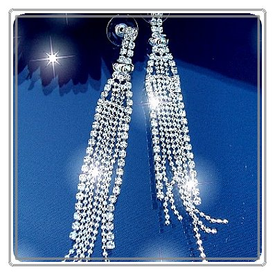 O1821# SCHMUCK OHRRINGE STRASS SILBER-PL. Silberschmuck