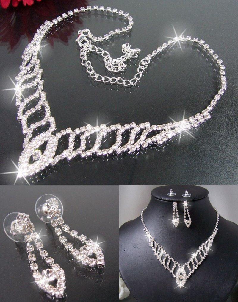 Modeschmuck silber  EVER FAITH® 925 Sterling Silber CZ Gorgeous rund Cut Hochzeit ...