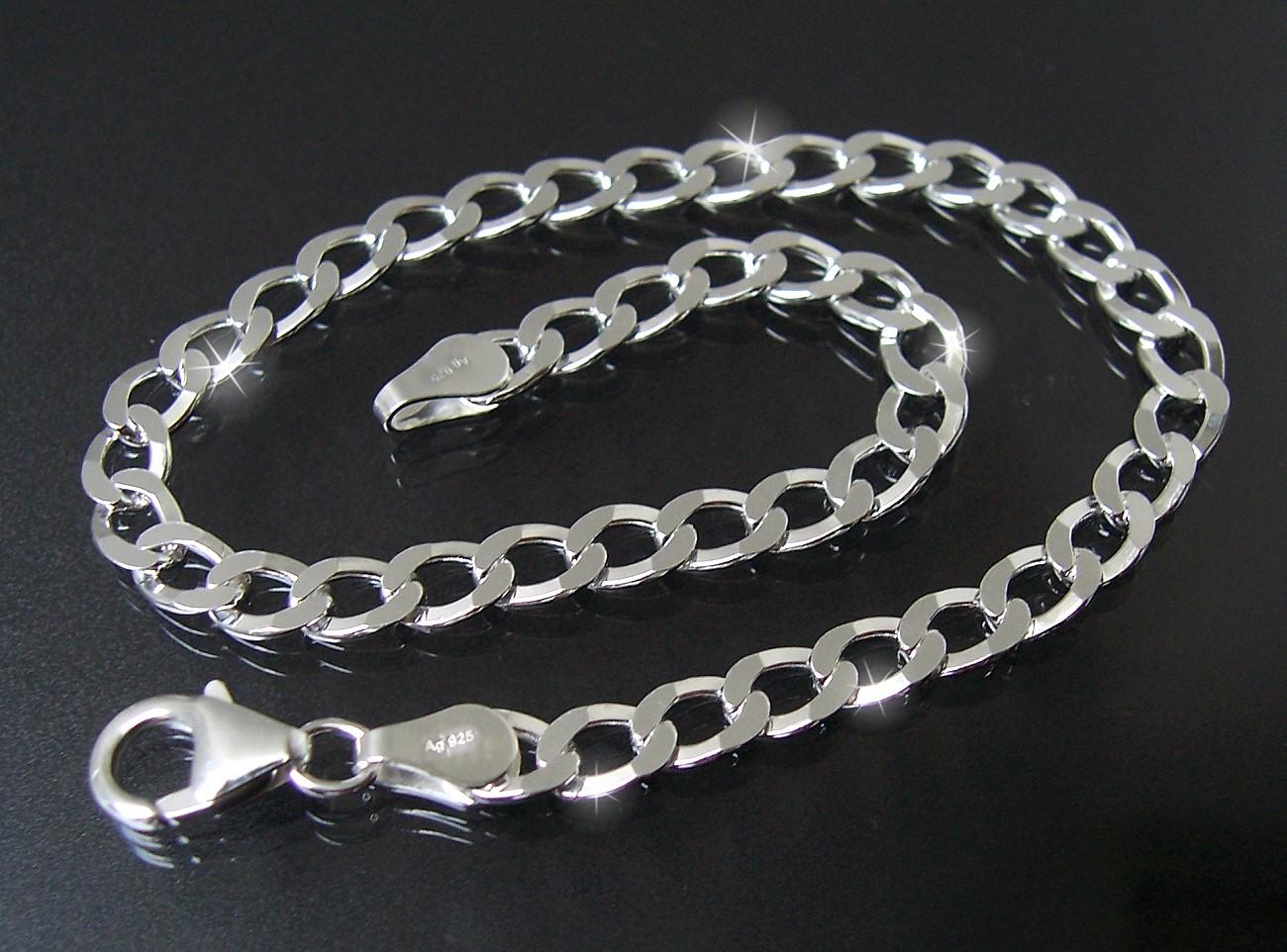 Panzerarmband 4,5mm x19cm Sterlingsilber Silber 925er diam. K13545-19