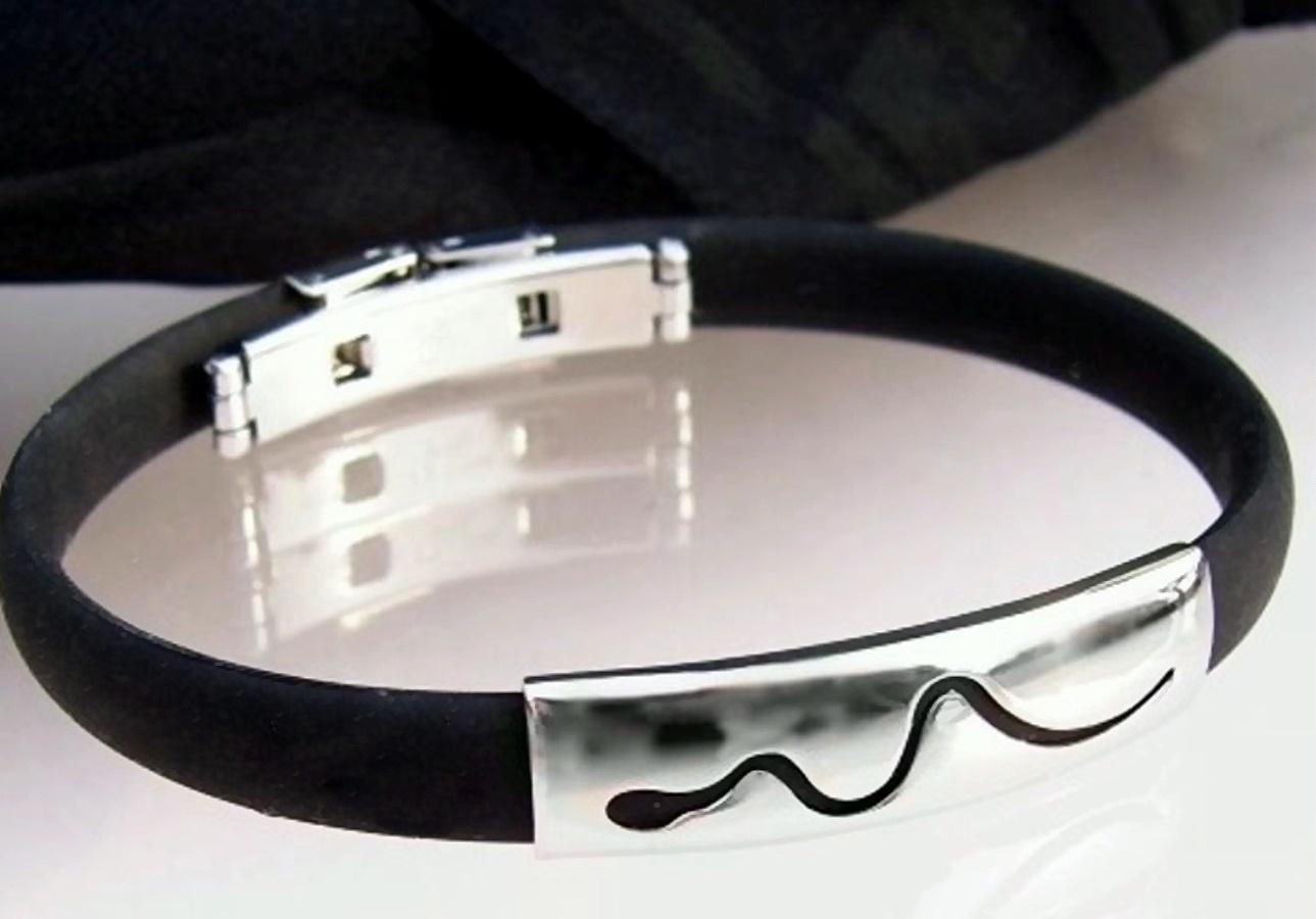 A1325 Kautschukarmband Edelstahl Armband Schlange A148*