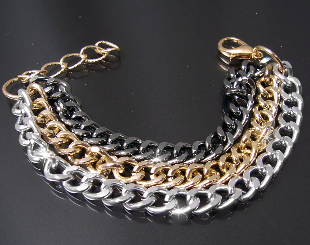 A1782* Statement Armband Mode Schmuck gold silber antiksilber 24cm