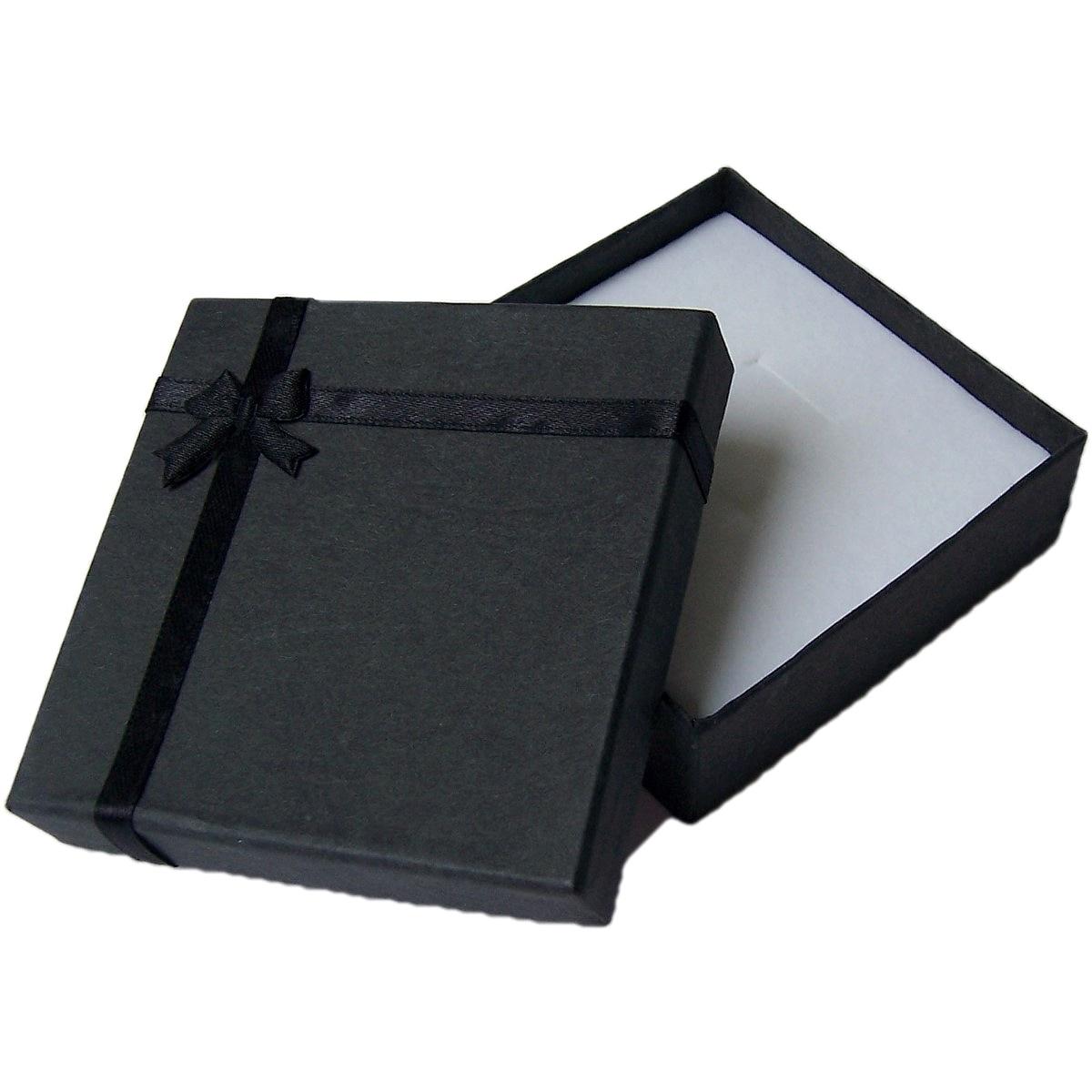 G4013 Geschenkbox Schmuckkästchen Geschenk Etui 9x9cm dunkelgrau