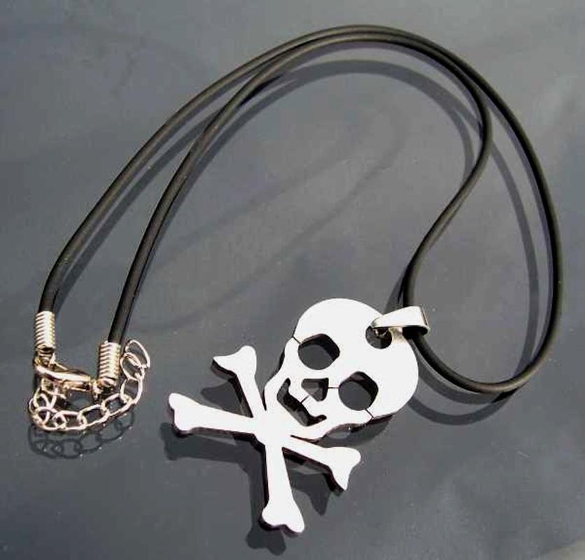 KETTE Totenkopfkette Halskette schwarz Totenkopf EDELSTAHL K645