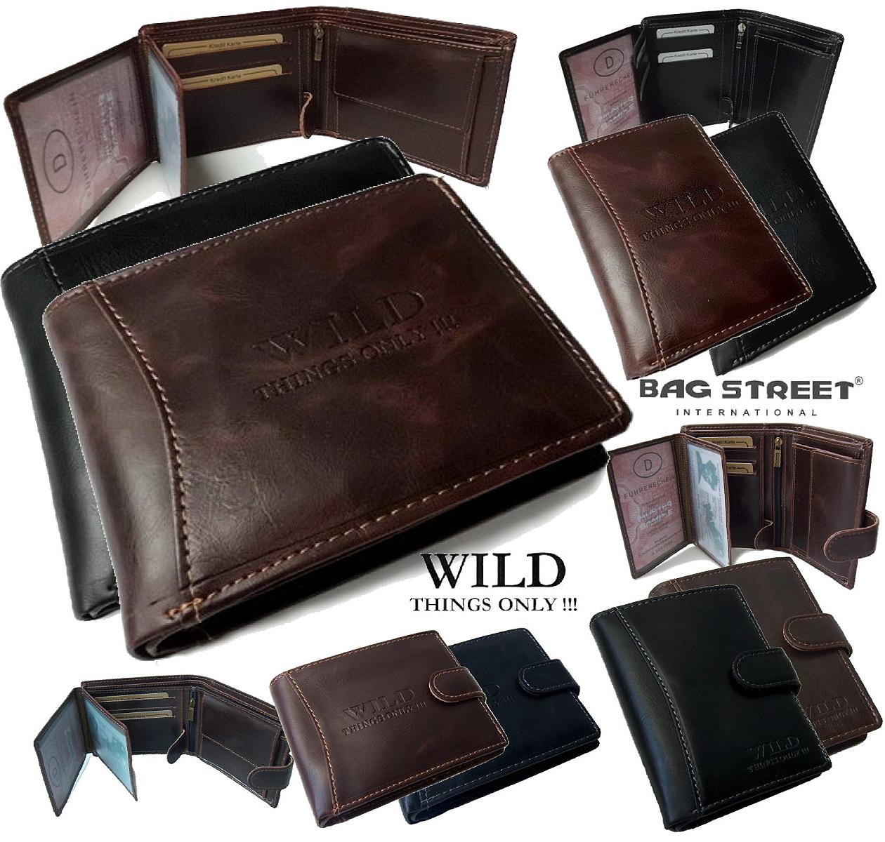 a0f1b88a4ba3d PV4  Portemonnaie Leder-Look Geldbörse Wild Things Geldbeutel Brieftasche  unisex