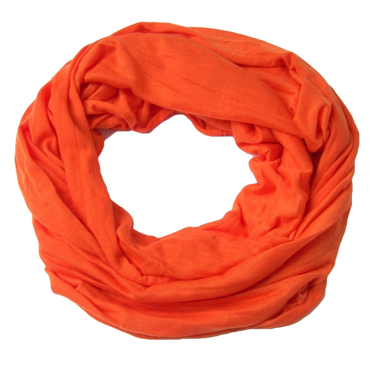 T7034* Loop Schal Tuch orange Rundschal Damen NEU