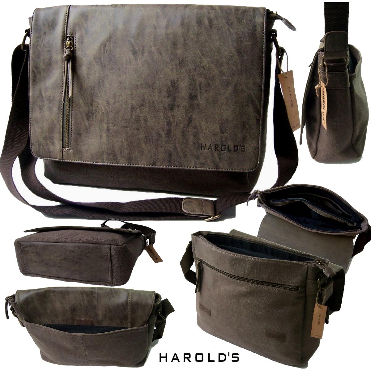 Tasche Umhängetasche Herren Canvas Harold's Messenger braun Ta8044