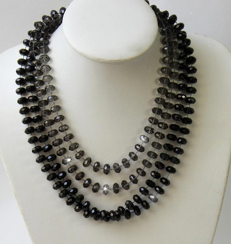 Modeschmuck kette schwarz  Kette Perlenkette Halskette Perlen Modeschmuck Damen Kinder ...