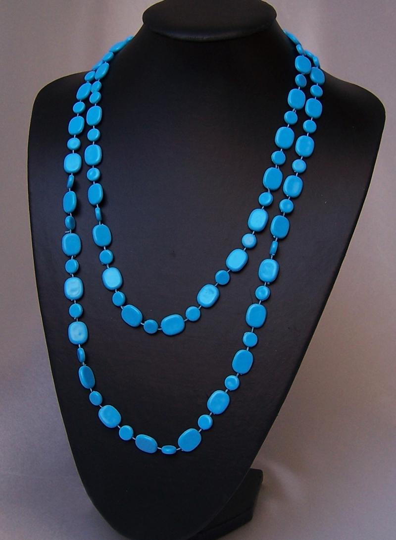 Modeschmuck perlen  VZ2 Kette Perlenkette Halskette Perlen ModeSchmuck Wickelketten ...