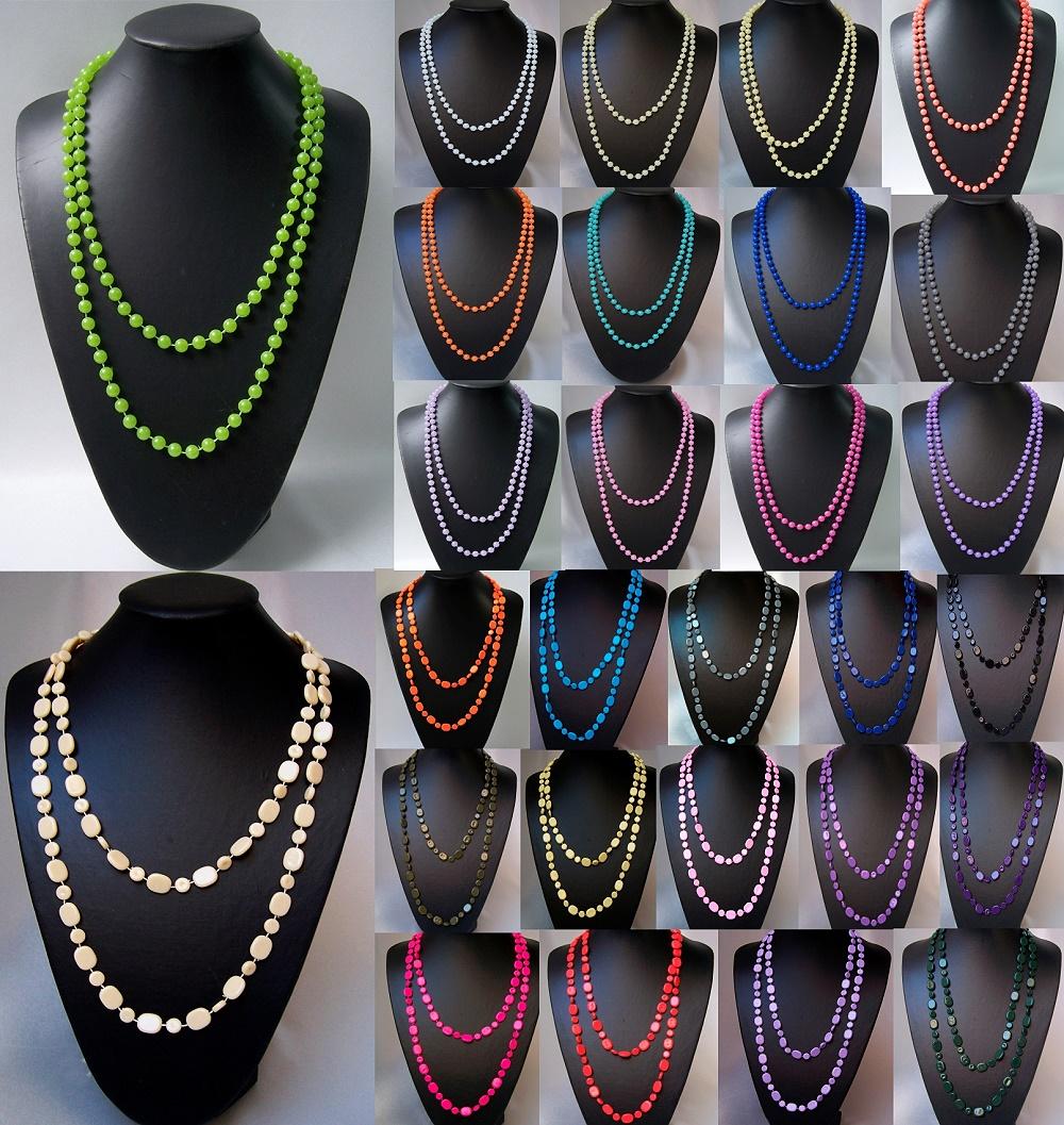 VZ2 Kette Perlenkette Halskette Perlen Modeschmuck Neu